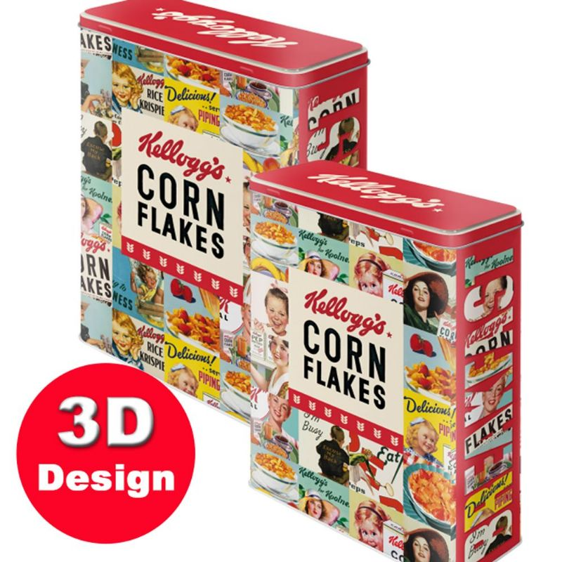 Kelloggs Cornflakes Collage  | Kitchen Storage Tin